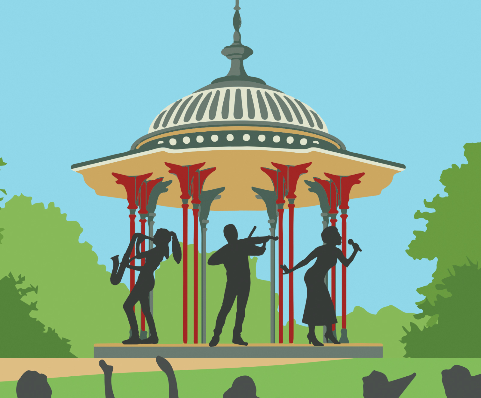 2019 Clapham Common Bandstand Concert Poster