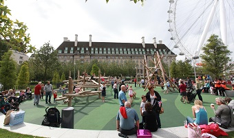 Jubilee Gardens next to the London Eye
