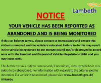 Your vehicle has been reported as abandoned and is being monitored