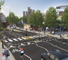 A computed generated image of the Baylis Road improvement scheme