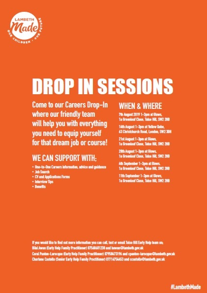 Lambeth Made weekly jobs fair 7 Aug -11 Sept