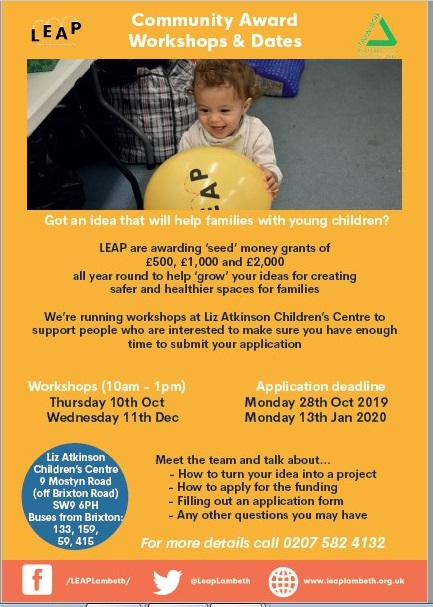 LEAP Community Fund Workshops