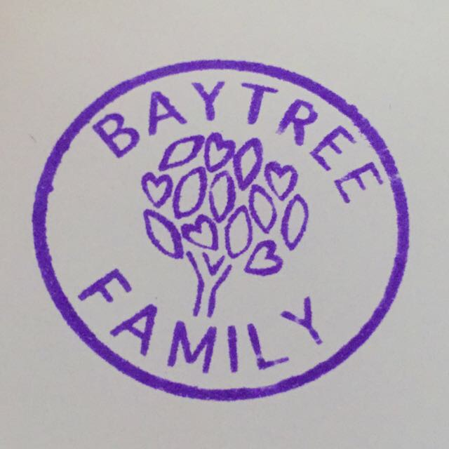 Baytree Family tree in purple circle logo