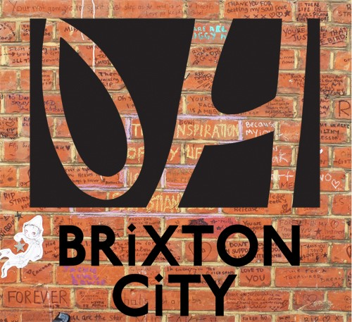 Brixton City Festival August 11-14 logo 'OH (Oval House) made of red bricks