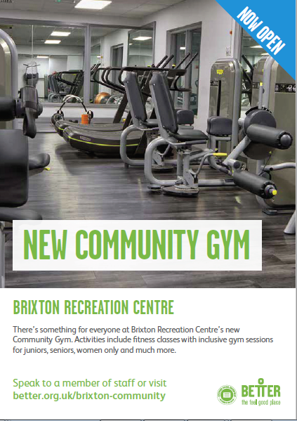 fitness equipment @ new dcommunity gyum Brixton