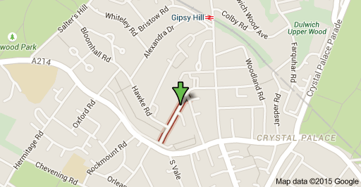 Map to Central Hill Day Centre Lunham Road London SE19 1AA