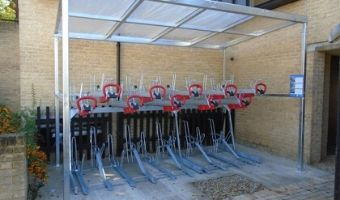 image of Cambridge cycle shelter