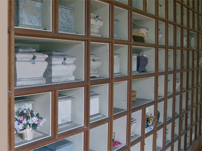 Image of columbarium - display areas for cremated remains