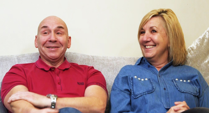 Foster carers Jim and Kay