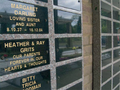 Image of granite memorial plaques