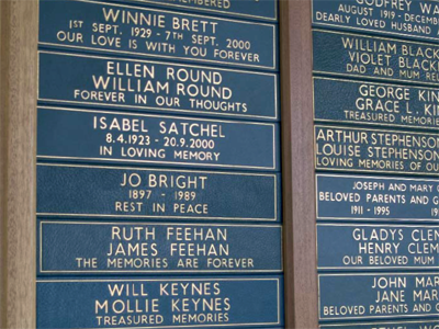 Image of leather memorial plaques