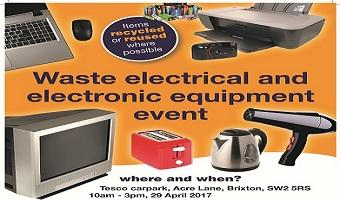 Waste Electrical and Electronic Equipment (WEEE) recycling event