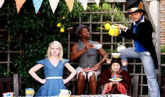 Alice in Wonderland outdoor theatre 22 July to 20 Aug various venues including Brockwell Park and Streatham Rookery