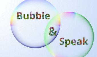 Bubble and speak logo