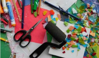 Photo of arts and crafts supplies
