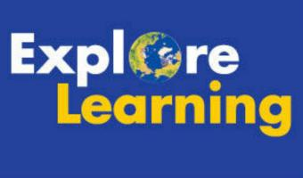 Explore Learning with a blue background