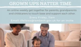 Grown ups Natter Time poster