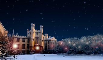 Lambeth Palace with snow