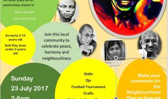 Mandela's Heroes Day Sunday 23 July Madora Road London SW2 6LW 2pm to 6pm