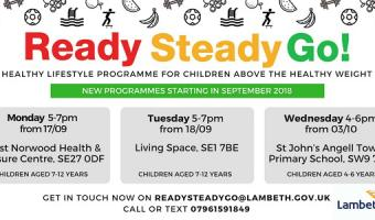 Ready Steady Go Autumn 2018 Healthy lifestyle programme for children aged 4-6