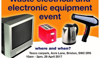Waste electrical and electronic equipment recycling event Tesco Car Park  Acre Lane 29 April 2017