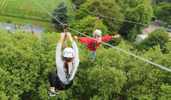 Female zip lining