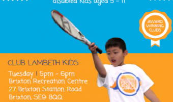Community kids club sport for ages 5-11 with disabilities Tuesday afternoon Brixton Rec.