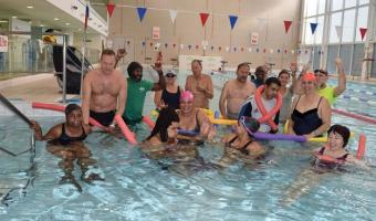 DASL swimmers group in Clapham pool