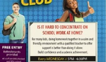 St Matthews Homwork club 17 Jan for 8 weeks every wedensday 5.30pm