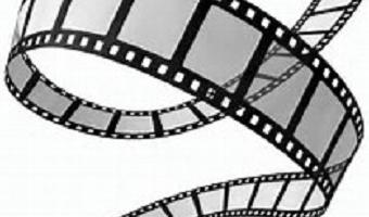 Film frames in a spiral of black & grey (free clip art image)
