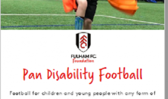Pan disability football sessions Black Prince Tuesday evenings