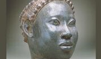 Statue of African woman's head