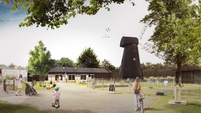 Concept drawing of the Brixton Windmill Education Centre – courtesy of Squire and Partners.