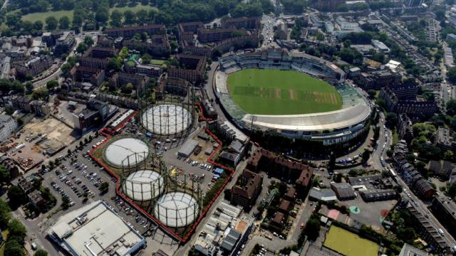 Gas works site from the air