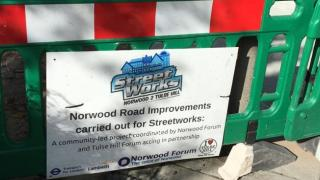 Streetworks phase 1 Tulse Hill Station