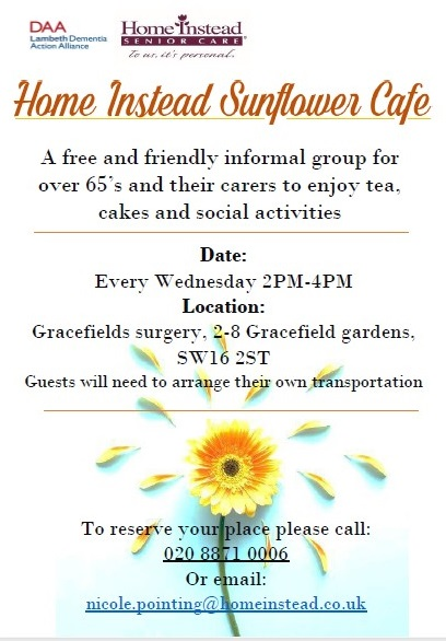 Dementia cafe @ Gracefield Gardens