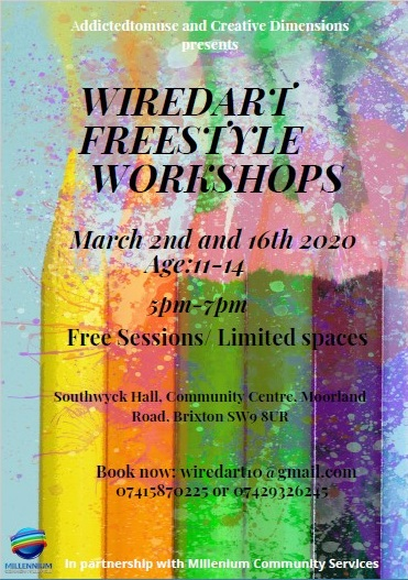 Wired Art at Southwyck Hall Community Centre